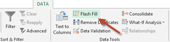how to turn on flash fill in excel 2010