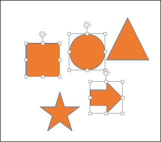 Inclusive selection in Powerpoint