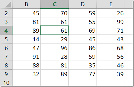 Selection - End mode in Excel