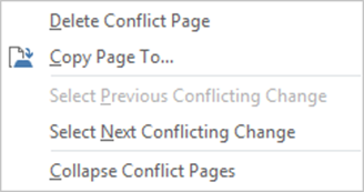 onenote conflicts