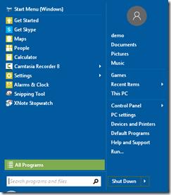 Windows 10 classic shell