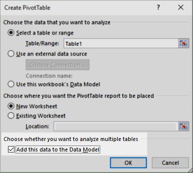 distinct count - create PivotTable